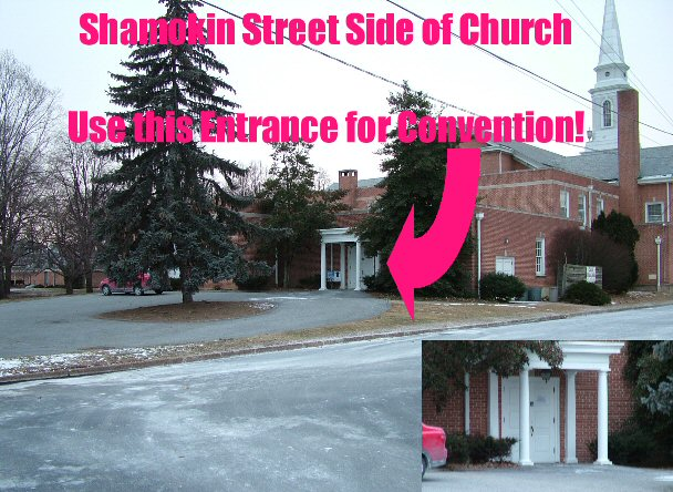 Convention Entrance Shamokin Street Side of Church